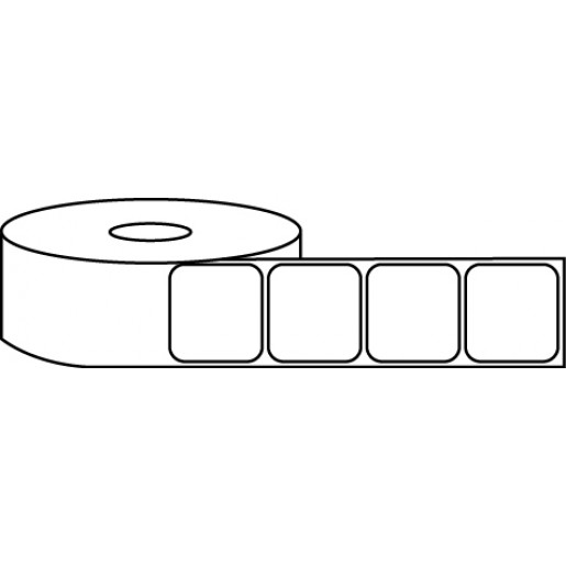 """1"""" x 1"""" Thermal Label Roll - 1"""" Core / 4"""" Outer Diameter"""
