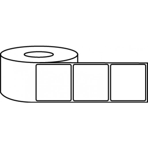 """4"""" x 4"""" Thermal Label Roll - 3"""" Core / 8"""" Outer Diameter"""