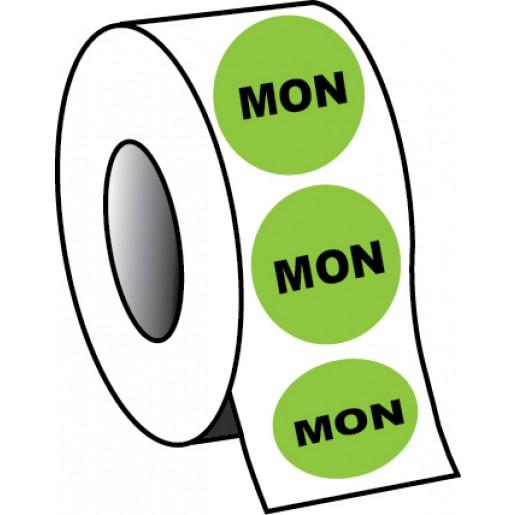 "0.75"" Monday Planner Circle Label"