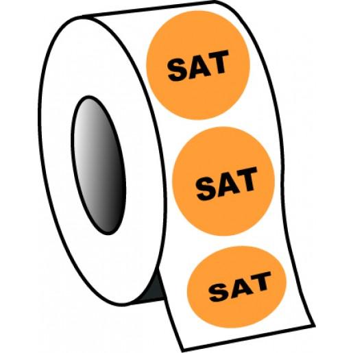 "0.75"" Saturday Planner Circle Label"