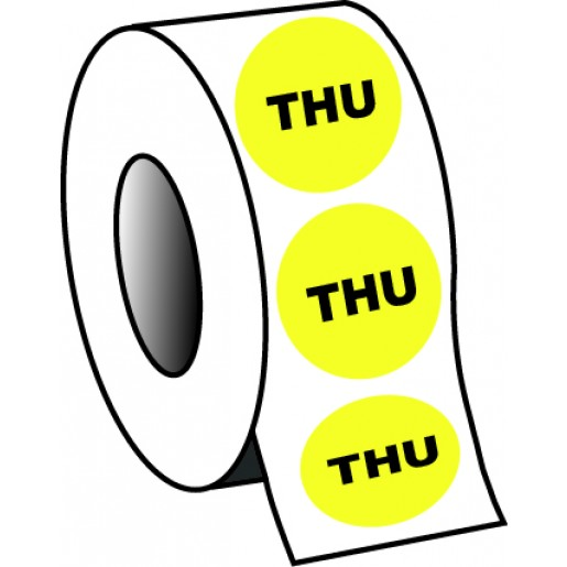 "0.75"" Thursday Planner Circle Label"