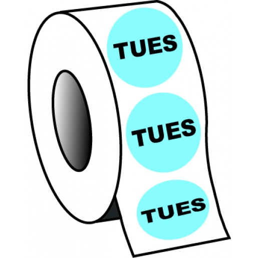 """0.75"""" Tuesday Planner Circle Label"""
