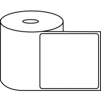 "4"" x 4"" Thermal Label Roll - 1"" Core / 4"" Outer Diameter"